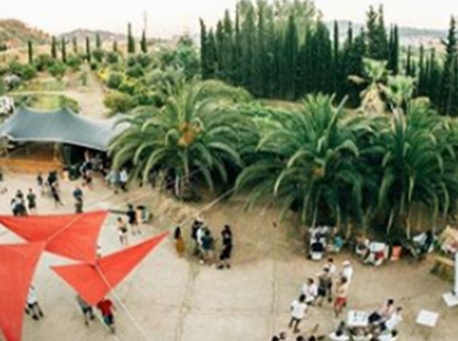 Castell de Ben Viure vista jardin