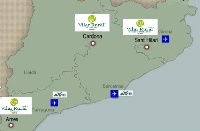 Mapa ubicación 3 vilars